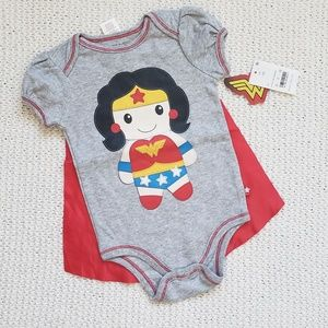 Wonderwoman Onesie with Removable Cape NWT